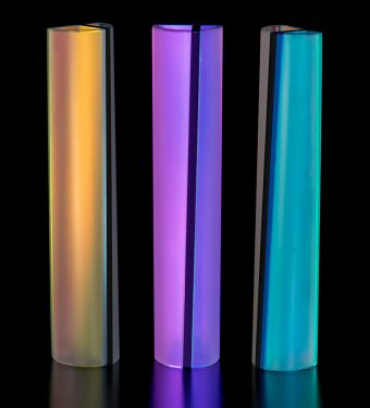 three tall glass pieces