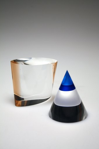 Cone and Cube sculptures by Chris Giordano