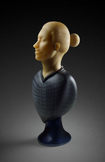 Female Bust with Plinth by Ross Richmond