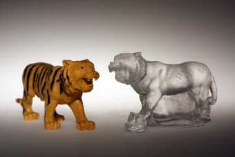 Toy Tiger, Glass Tiger by Jessi Moore