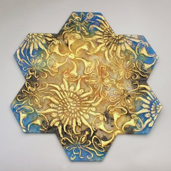 Garden Tile by Carol Milne