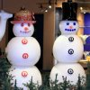Glass Snowmen