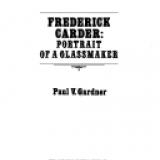 Frederick Carder: portrait of a glassmaker / Paul V. Gardner.