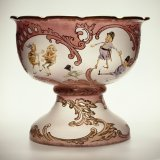 Royal Flemish Punch Bowl with Brownie Decoration by Mt. Washington Glass Company