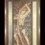 Panel, Athlète et feuillages (Athlete and foliage), dated 1932 (55.3.165, gift of Benjamin D. Bernstein)