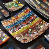 Murano Glass Objects with Kiln Murrine