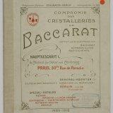 Spezial-Katalog: Römer, Madeira- und Likör-Kelche, Sektkelche, Champagner-Schalen, Rotwein-Kelche, Pokale, 1909-1910.