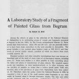 A Laboratory Study of a Fragment of Painted Glass from Begram.