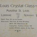 St. Louis Crystal Glass Co., Munzthal St. Louis, Lorraine, Germany.