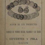 Album de los productos de la fabrica de vidrios huecos, blancos y de color.