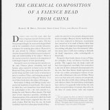 The Chemical Composition of a Faience Bead from China