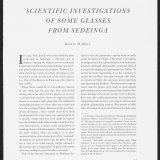 Scientific Investigations of Some Glasses from Sedeinga