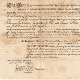 [Certificate of appointment of Inspector of pot and pearl ashes Ebenezer Jenkins].