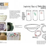 Combining glass with embroidery stitching [electronic resource].