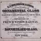 E.F. Holbrook & Bros., manufacturers of ornamental glass for railway cars, dwellings, churches, &c, &c, &c.: Also importers of French window, railway, picture, polished, and rough plate glass.