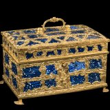 Casket with glass panels, about 1760-1770.