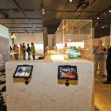 GlassLab responsive web app on tablets in the exhibition