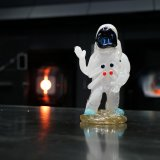 """The friendly """"glasstronaut"""" was created by The Corning Museum of Glass glassmaker, Catherine Ayers."""