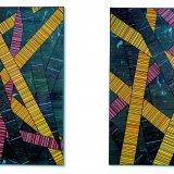 The Portland Panels: Choreographed Geometry, Klaus Moje, Portland, OR, 2007. Lent by David Kaplan and Glenn Ostergaard. Photo: Ryan Watson, courtesy Bullseye Gallery, Portland. L.1.4.2014.