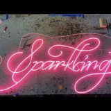 Neon collaboration with FagSigns and Corning Museum of Glass for In Sparkling Company