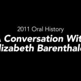 Elizabeth Barenthaler oral history interview, 2011 – Rakow Research Library (Audio Only)