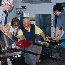 Lino Tagliapietra teaches a class at The Studio in 2000.