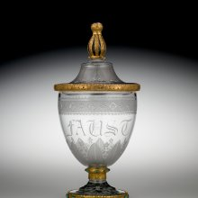 Deckelpokal (Goblet with Cover), probably Karl Schinkel (designer), Werner and Mieth Workshop, Berlin, Germany (Prussia), about 1820. (2013.3.11, gift of the Ennion Society, H: 34 cm, Diam: 16.9 cm.)