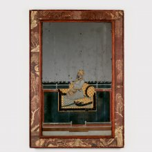 Reverse-painted Portrait on Mirror Glass Depicting a Mughal Nobleman, perhaps Nawab Shahamat Jang, possibly Calcutta, West Bengal, India, 1760-1780. 2014.6.18.