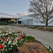 Corning Museum of Glass Admissions Lobby Entrance