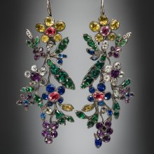 Pair of 'Harlequin' Earrings, about 1760