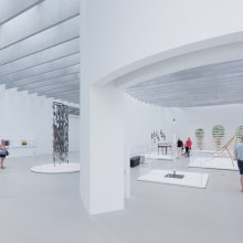 View of the Nature Gallery and Promenade in the Contemporary Art + Design Wing. Photo: Iwan Baan