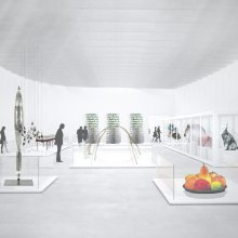Rendering of the North Wing Contemporary Gallery