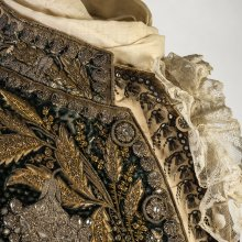 Man's coat (detail), about 1780.