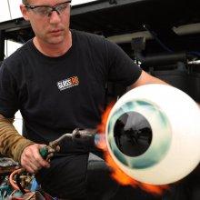 Glassmaker Eric Meek at GlassLab