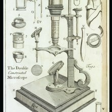 Plate 7A from Volume 2 of Essays on the Microscope by George Adams; 2nd ed. with additions by Frederick Kanmacher. Printed by Dillon and Keating in London for the editor, 1798. CMGL 110118