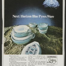 Next: Horizon Blue Pyrex ware, Corning Glass Works, published in McCall's, 1969. Dianne Williams collection on Pyrex. CMGL 141829.