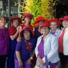 Red Hat Ladies visiting CMoG