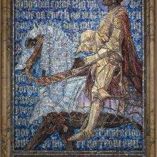 Panel, The Prayer of the Christian Soldier, 1919.  Tiffany Studios, designed by Frederick Wilson (British, b. Ireland, 1858–1932).  Glass mosaic.  First Presbyterian Church (now United Presbyterian Church), Binghamton, New York.
