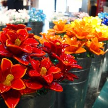 Glass flowers in the Museum Shop