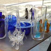 """Broken shard"" prototypes by Constantin and Laurene Boym from GlassLab at Design Miami 2007"